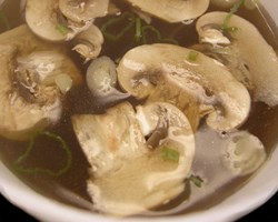 Clear Broth Mushroom Soup