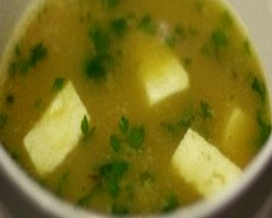 Moong Soup With Paneer