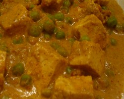 Tofu With Green Pea Curry | Indian Vegetarian Recipes | Indian Regional Recipes | Indian Food Recipes | Indian Microwave Recipes | Diabetic Recipes