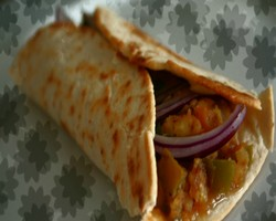 Vegetable Kati Roll Recipe