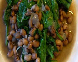 Spinach Black Eyed Peas Curry